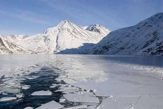 A cobertura de gelo da Groenlândia