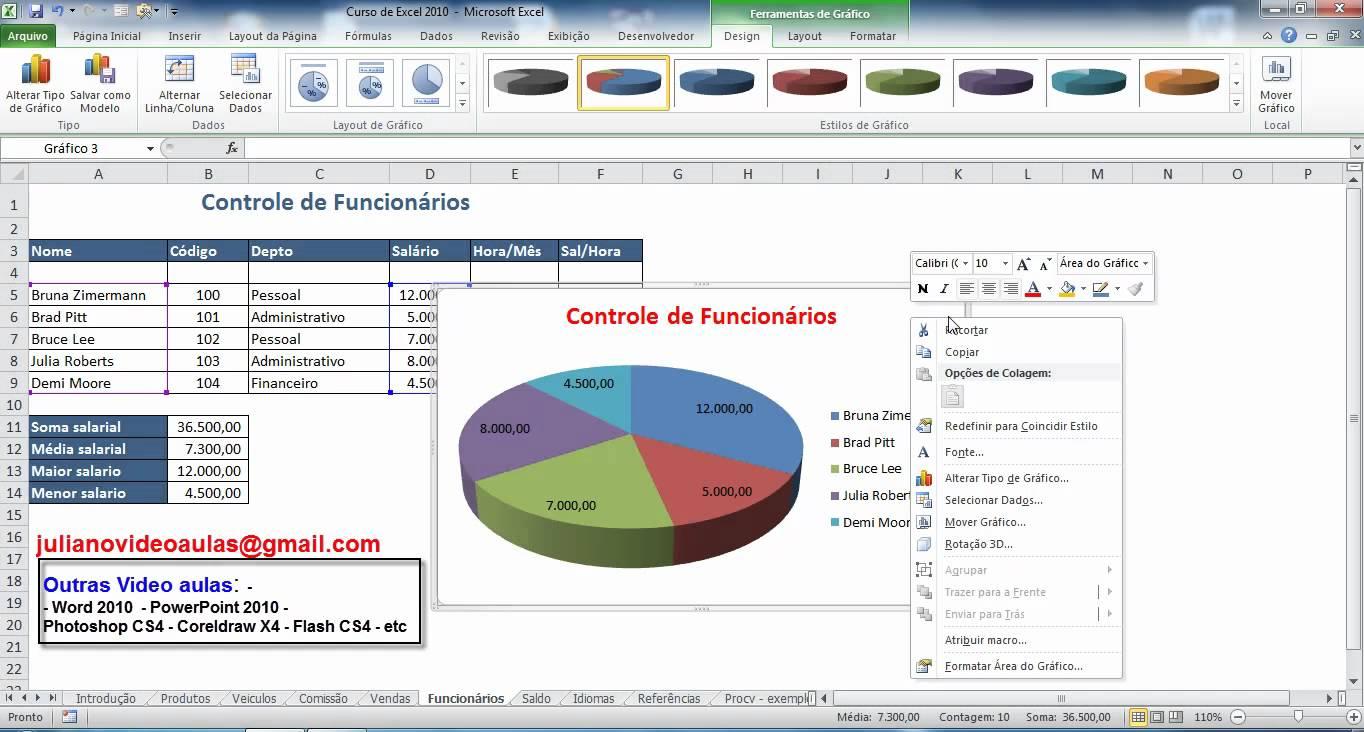 Aprenda a fazer gráficos de 'pizza' no Excel