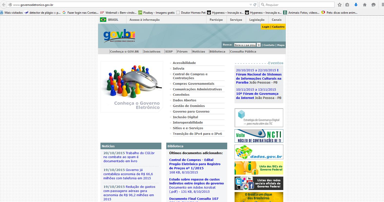 Governo eletrônico: a divulgação online dos serviços e programas ...