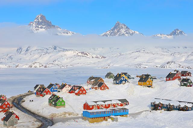 Povoado na Groenlândia