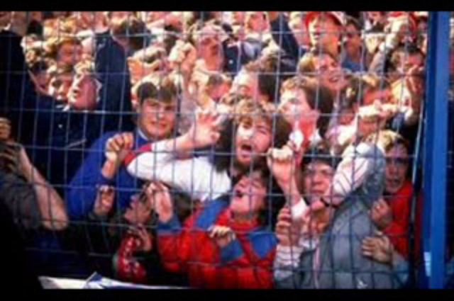 Imagem do desastre de Hillsborough