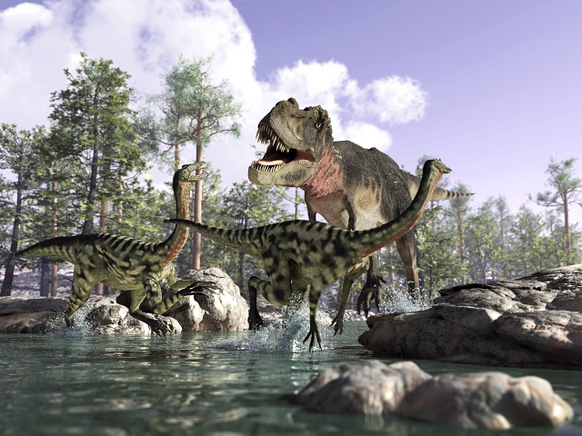 Dinossauros na água