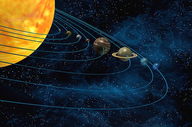 Para Kepler, os planetas desenvolviam um movimento elíptico, com órbitas influenciadas pelo Sol