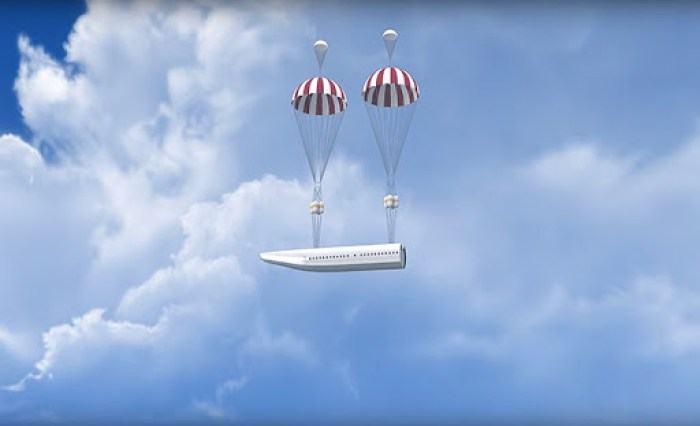 Conheça o avião que permite sobrevivência em caso de queda