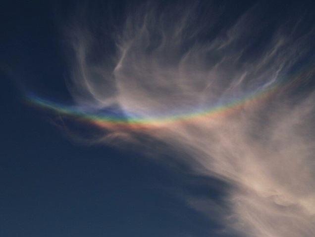 O ' mistério' por trás do arco circunzenital ou 'arco-íris invertido ...