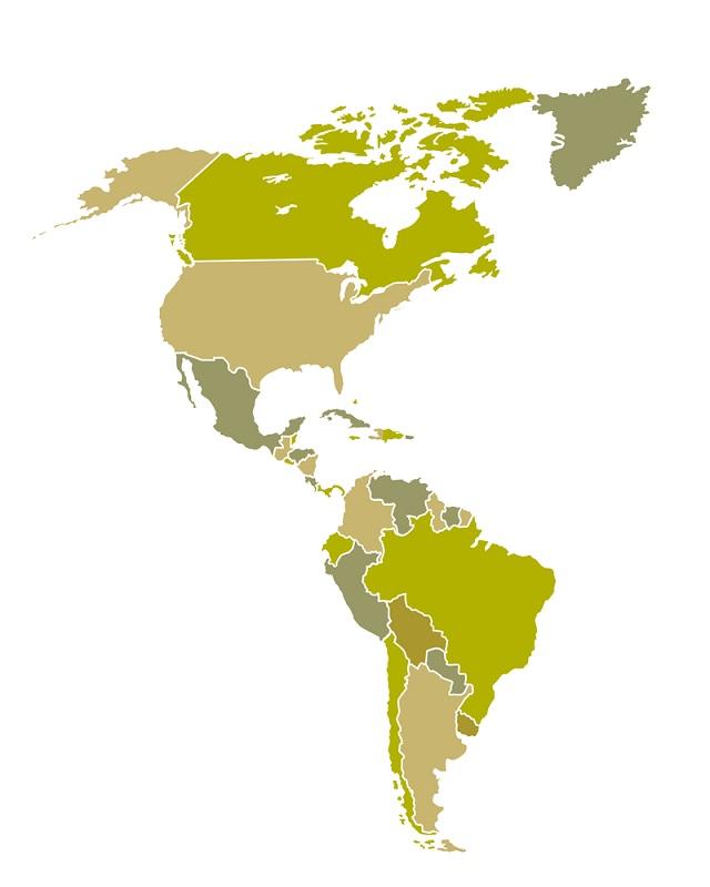 O continente americano se divide em América Latina e América Anglo-Saxônica