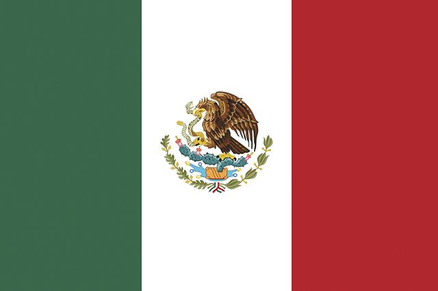 As cores adotadas na bandeira do México são o verde, o branco e o vermelho
