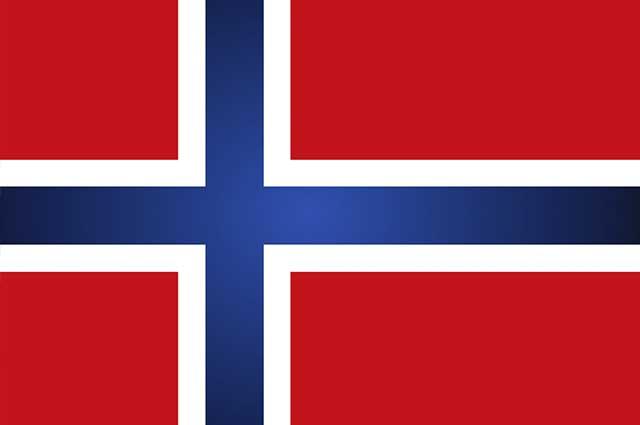 A bandeira da Noruega representa, através das cores escolhidas, a liberdade e democracia