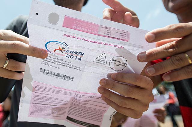 Cartão de confirmação de inscrição do Enem