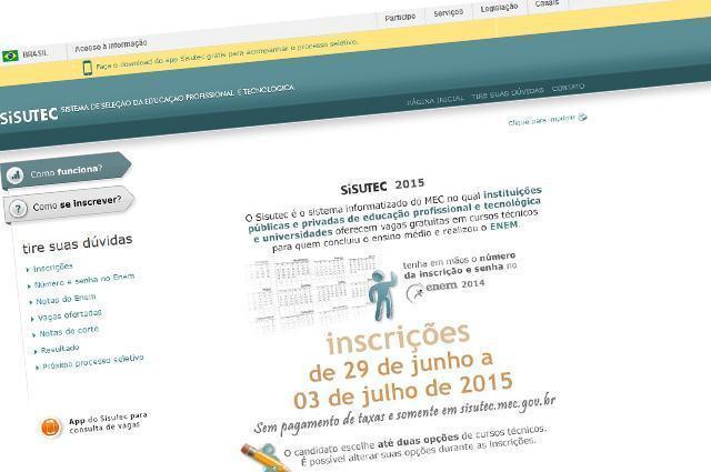 Imagem do site do Sisutec