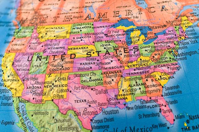 Os Estados Unidos possuem a quinta maior extensão territorial do mundo