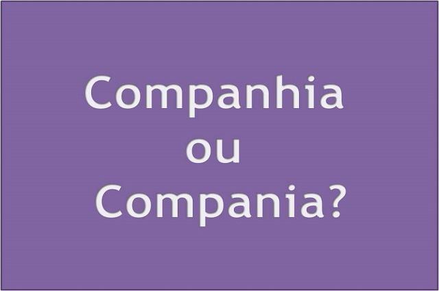 Ilustração com as palavras companhia e compania