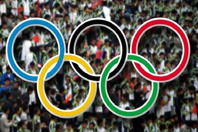 Ilustracao dos aneis olímpicos