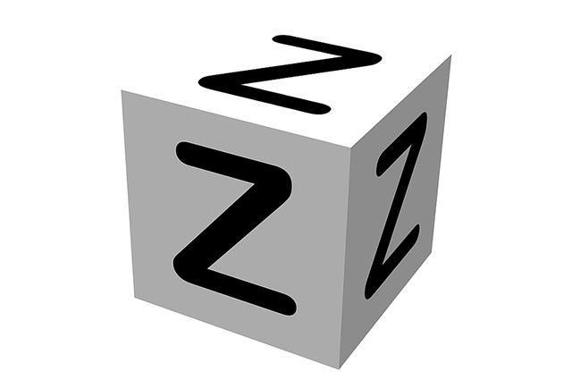 Ilustracao em forma de cubo com a letra 'z'