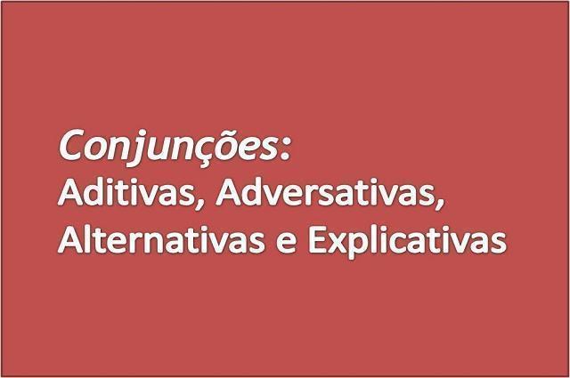 Ilustração sobre conjunções