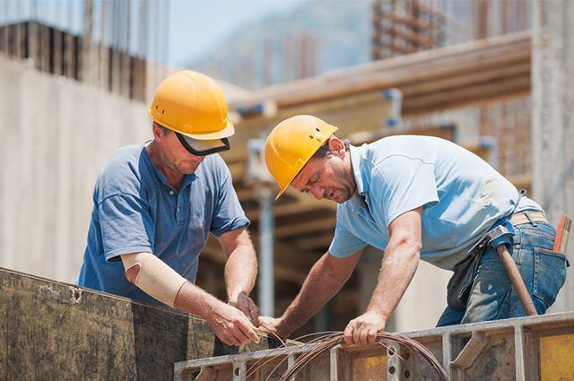 Imagem de trabalhadores da construção civil