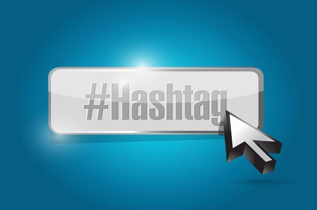 Ilustração da palavra 'hashtag'