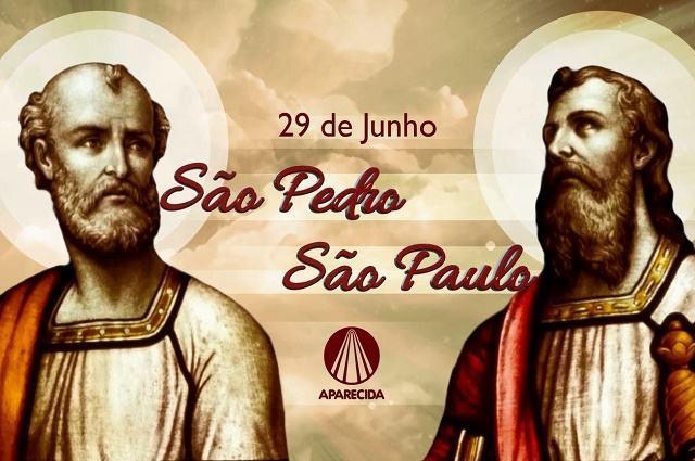 Ilustração de São Pedro e São Paulo