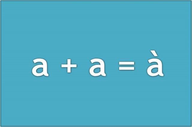 Ilustração do uso da crase na letra 'a'