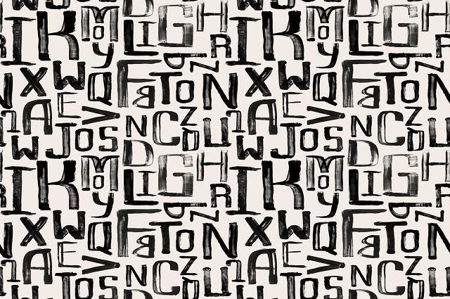 Ilustração de letras do alfabeto