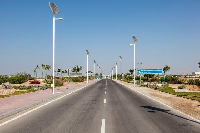 Imagem de Masdar City, próximo de Abu Dhabi