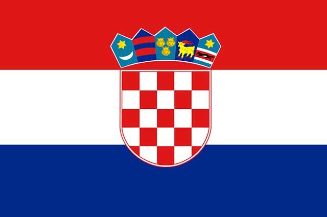 A bandeira da Croácia possui as cores Pan-Eslavas: azul, branco e vermelho