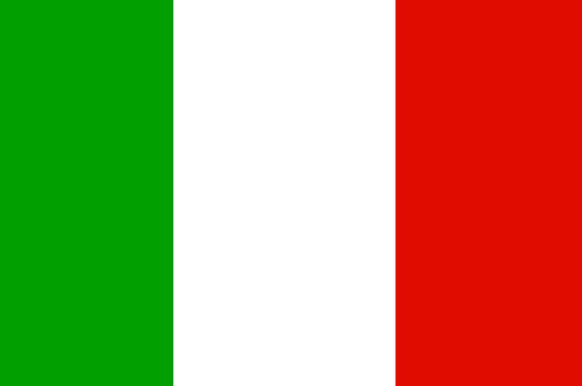 A bandeira da Itália foi adotada em 1 de janeiro de 1948