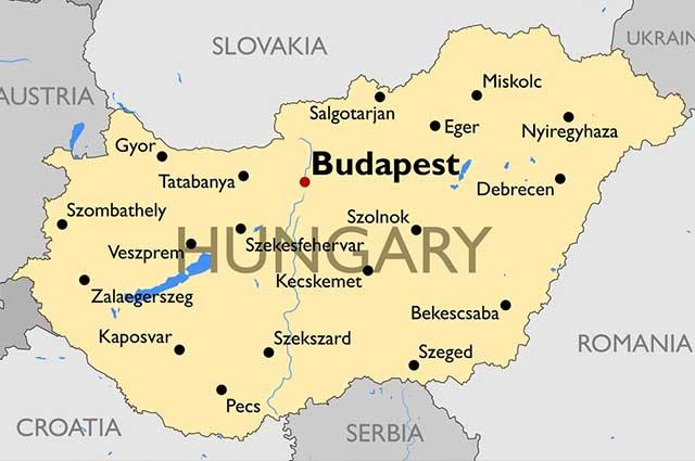 A Hungria tem seu território dividido pelo rio Danúbio, que representa sua principal via fluvial