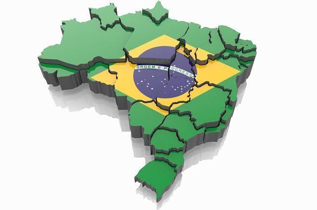 Mapa do Brasil recortado