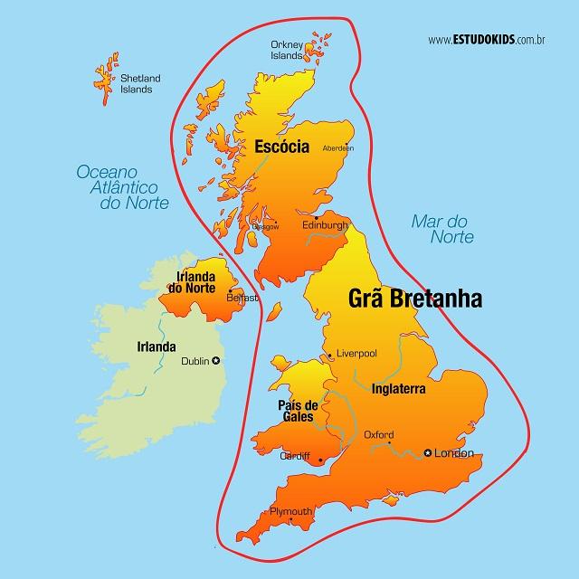 Mapa da Grã Bretanha
