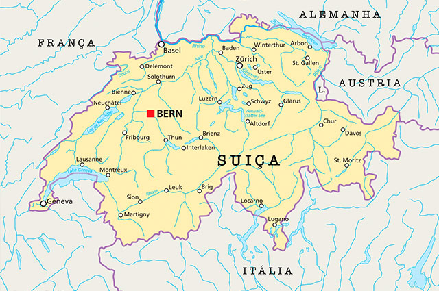 Mapa Suíça