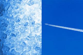 Rastros brancos que alguns aviões fazem no céu