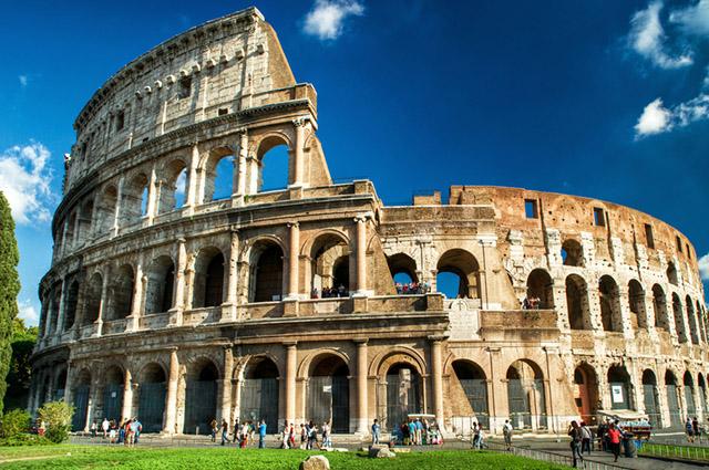 Coliseu romano, na Itália