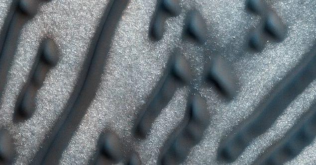 Código Morse na superfície de Marte