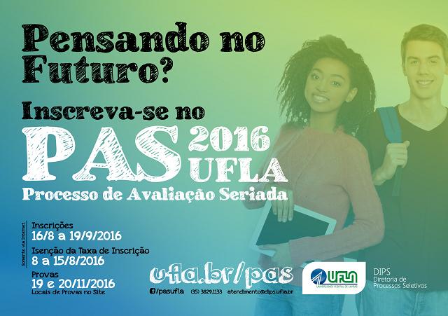 UFLA: período para pedidos de isenção da taxa do PAS segue até 15/9