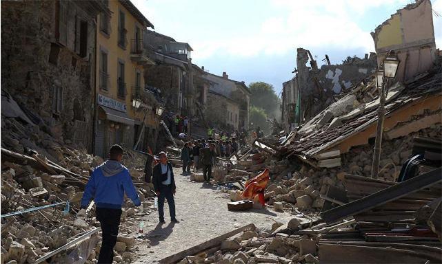 Antes e depois dos locais destruídos por terremoto na Itália - Estudo ...