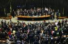 Brasília - Tem inicio a sessão para votação da autorização ou não da abertura do processo de impeachment da presidenta Dilma Rousseff, no plenário da Câmara dos Deputados ( Marcelo Camargo/Agência Brasil)
