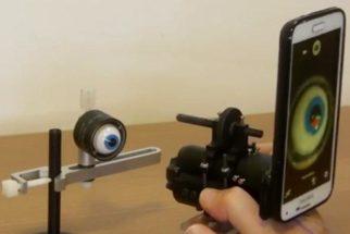 Brasileiros criam aparelho que faz exame de vista com celular