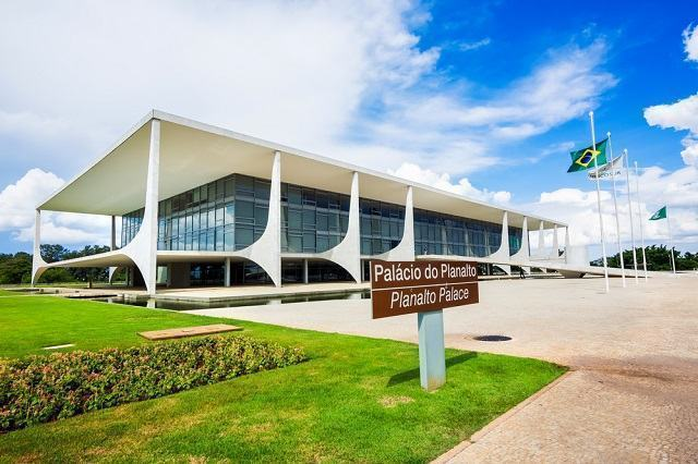 O Palácio do Planalto, sede do Poder Executivo Federal