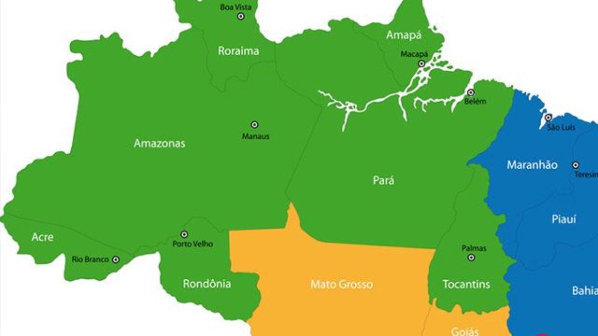 Região Norte Do Brasil Berço Da Floresta Amazônica