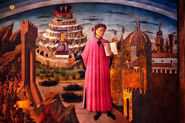 Um dos principais poetas europeus foi Dante Alighieri