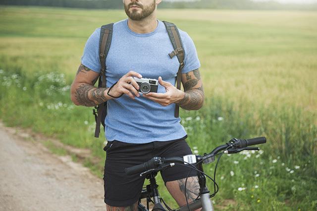 O ciclista da Google tira fotos de lugares onde não se consegue ir de carro