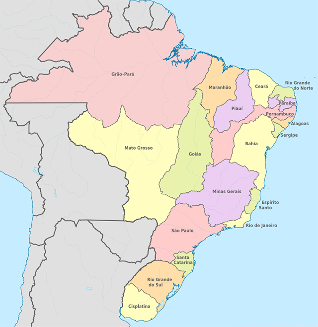 Mapa Do Brasil Regioes Estados E Capitais