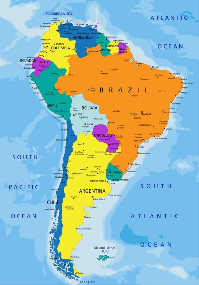 Mapa Mundi Continentes Paises E Capitais Estudo Pratico