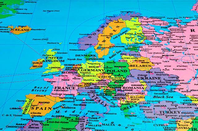 O mapa da Europa passou por inúmeras modificações ao longo dos anos