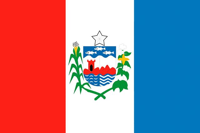 Bandeira atual do estado de Alagoas