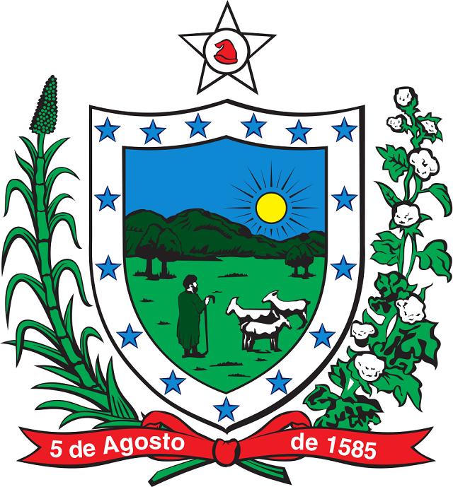 No brasão de armas existe uma faixa com a data da fundação da capital, João Pessoa