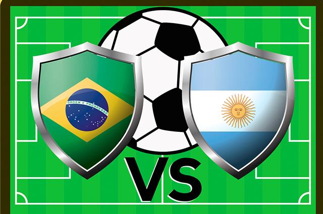 A rivalidade entre Brasil e Argentina é histórica