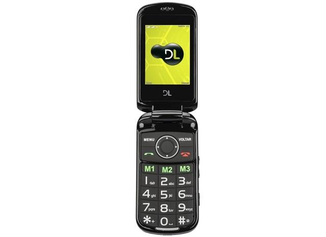 O modelo DL YC 130 é uma boa opção de celular para idoso