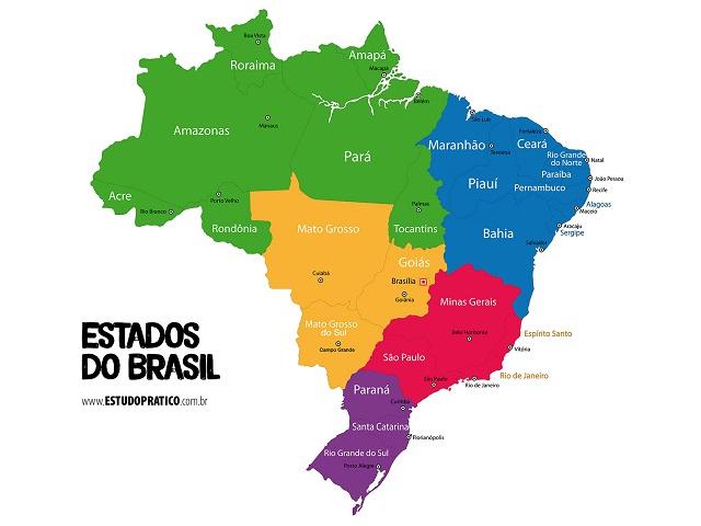 O mapa do Brasil passou por modificações ao longo dos anos, sendo a última em 1988